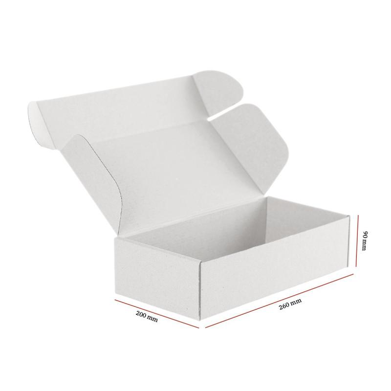 Karton fasonowy biały 260x200x90 mm 20 sztuk
