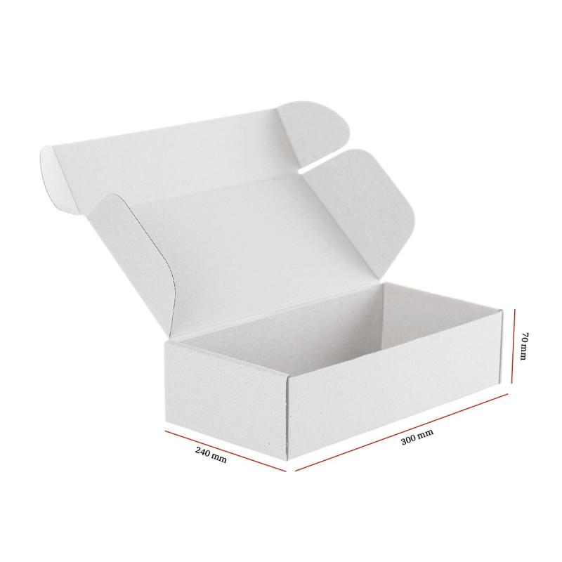 Karton fasonowy biały 300x240x70 mm 20 sztuk