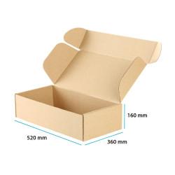 Karton fasonowy brązowy mocny 520x360x160 mm 20 sztuk