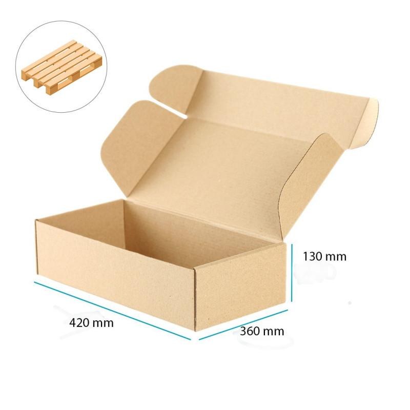 Karton fasonowy brązowy mocny 420x360x130 mm - 600 szt. - 1 Paleta
