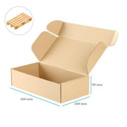 Karton fasonowy brązowy 260x200x90 mm 20 sztuk