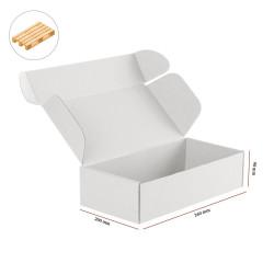 Karton fasonowy biały 260x200x90 mm 2120 szt - paleta