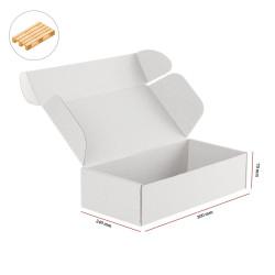 Karton fasonowy biały 300x240x70 mm 2120 szt - paleta
