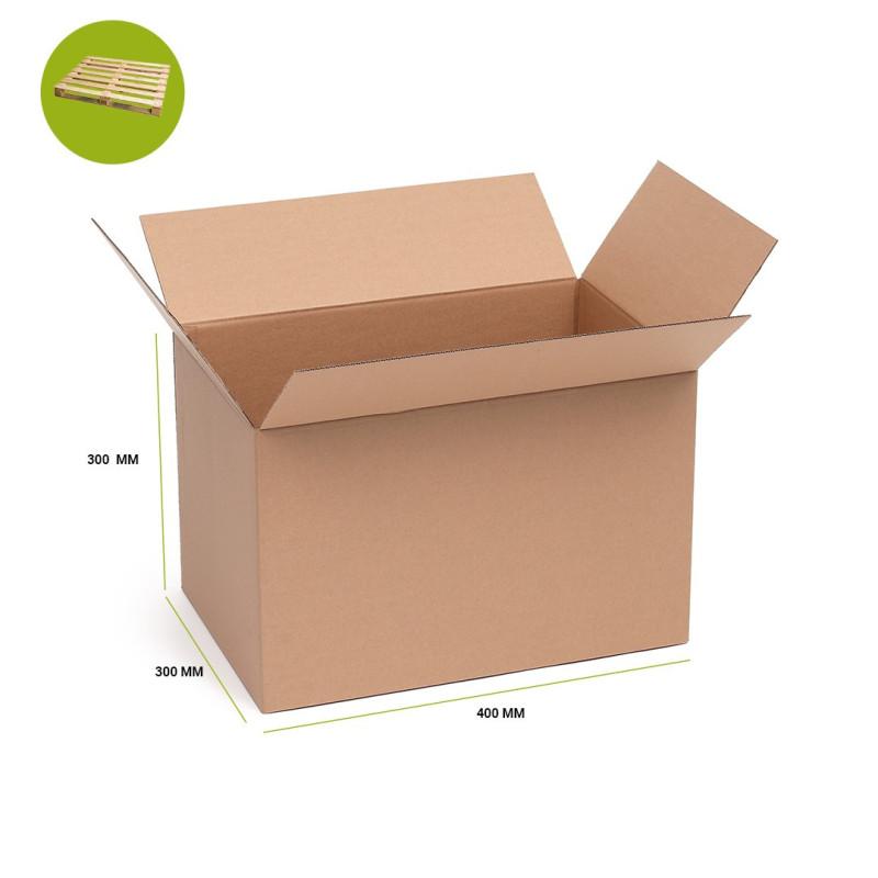 Karton klapowy brązowy 400x300x300 paleta 300 sztuk
