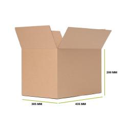 Karton klapowy 435x315x200 mm Fala B Gramatura 375g 25 sztuk