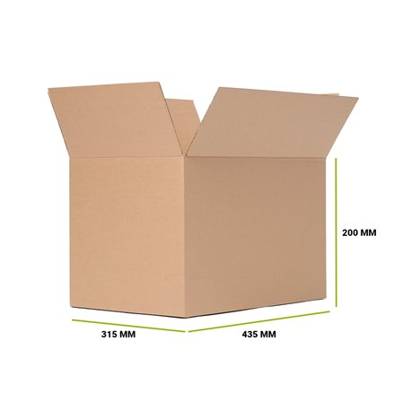 Karton klapowy 435x305x200 mm Fala B Gramatura 375g 25 sztuk
