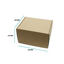 Karton fasonowy 250x200x150 brązowy E gramatura 470 g/m2