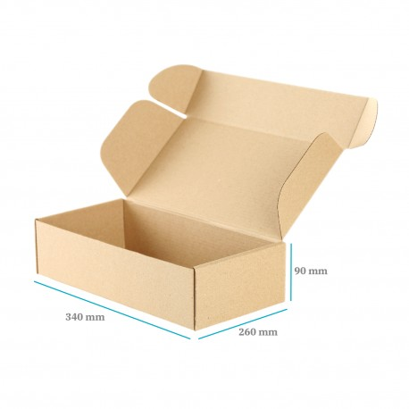 Karton fasonowy brązowy 260x340x90 mm 20 sztuk